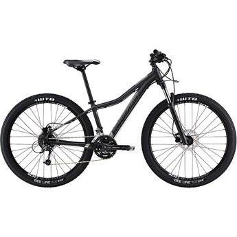 Cannondale Trail Womens 1 Nearly Black with Jet Black and Fine Silver, Matte