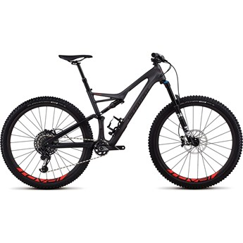 Specialized Stumpjumper FSR Expert Carbon 29 Satin Silver Tint Carbon/Black/Rocket Red Clean