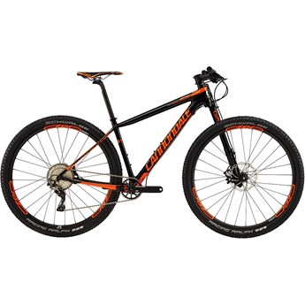 Cannondale F-Si Carbon 2 Jet Black with Hazard Orange, Chrome, Gloss