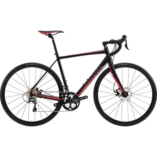 Kona Esatto Disc Matt Black with Silver, Dark Red and Red Decals 2016