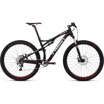 Specialized S-Works Epic FSR Kolfiber 29 Materialfärg/Röd/Vit