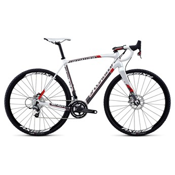 Specialized Crux Expert Carbon Disc Red Pearlvit/Askgrå/Röd