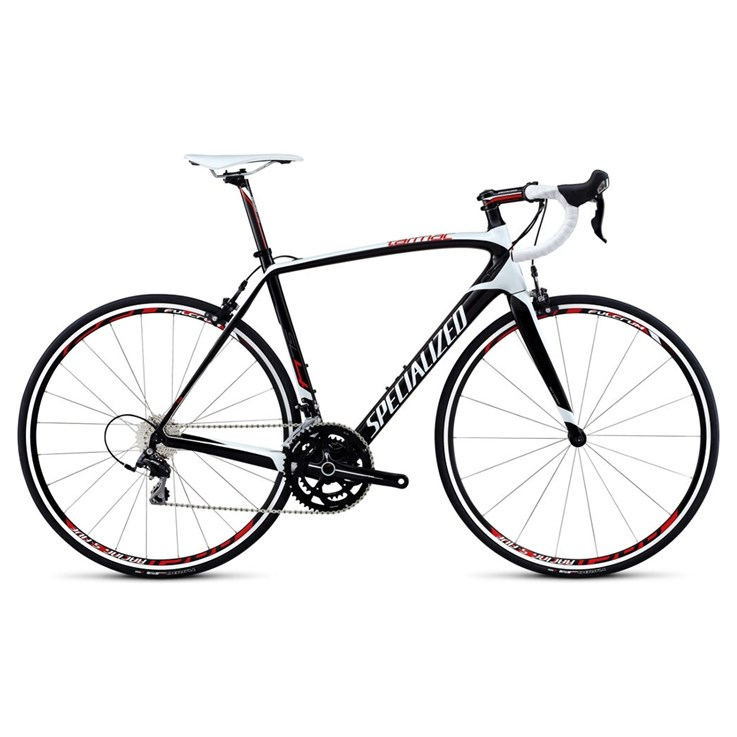 Specialized Tarmac SL4 Elite 105 M2 Vit/Materialfärg/Röd