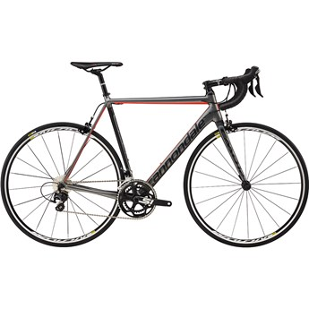 Cannondale CAAD12 105 Charcoal Gray with Jet Blac and Acid Red, Matte