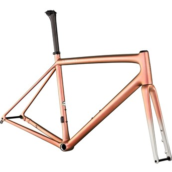 Specialized S-Works Aethos Frameset Satin Flake Silver/Red Gold Chameleon Tint/Brushed Chrome 2021