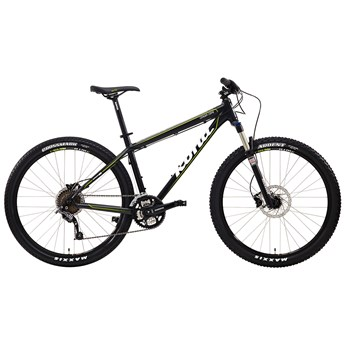 Kona Cinder Cone Matt Black with White, Lime and Grey