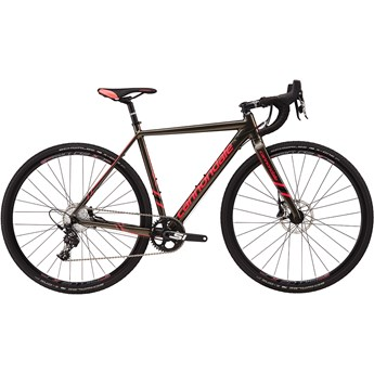 Cannondale CAADX Womens Apex 1 Anthracite with Jet Black and Acid Strawberry, Gloss