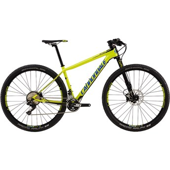 Cannondale F-Si Carbon 3 Neon Spring with Jet Black and Cerulean, Gloss