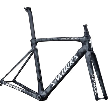 Specialized Roubaix S-Works Team Frameset Satin Black White Team Camo