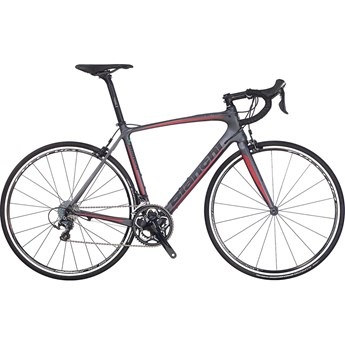 Bianchi Intenso Ultegra Graphite/Black Logo/Red Line