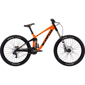 Kona Operator Alloy 27.5 Matt Orange and Black with Gloss Black and White Decals