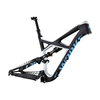 Specialized S-Works Enduro FSR Carbon 650B Frame (Bara ram) Carbon/Dirty White/Cyan
