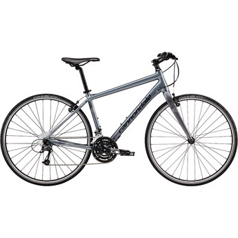 Cannondale Quick 4 Charcoal Grey with Jet Black and Fine Silver, Reflective Detail, Matte