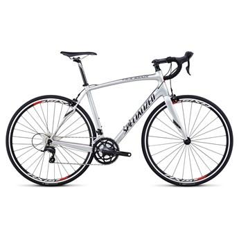 Specialized Roubaix SL4 Sora C2 Silver/Svart/Röd