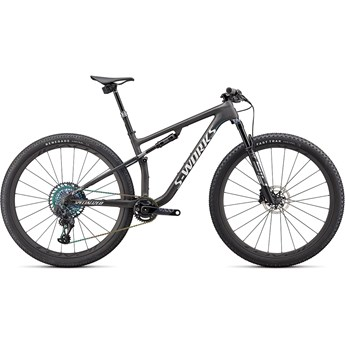 Specialized Epic S-Works Satin Carbon/Color Run Blue Murano Pearl/Gloss Chrome Foil Logos 2022