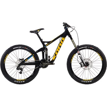 Kona Operator Matt Carbon and Black with Yellow and Blue Decals