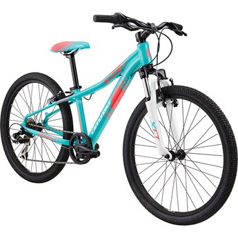 Cannondale Trail 24 Girls Turquoise with Magnesium White, Jet Black and Acid Strawberry, Gloss