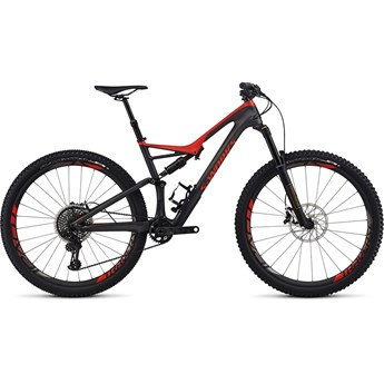Specialized S-Works Stumpjumper FSR Carbon 29 Silver Tint Carbon/Rocket Red