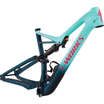 Specialized S-Works Stumpjumper FSR Carbon 29 6Fattie Frame Heritage Gloss Light Turquoise/Tropical Teal/Acid Pink Clean