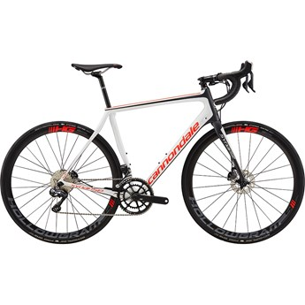 Cannondale Synapse Hi-Mod Disc Ultegra Di2 Cashmere with Acid Red and Nearly Black, Satin