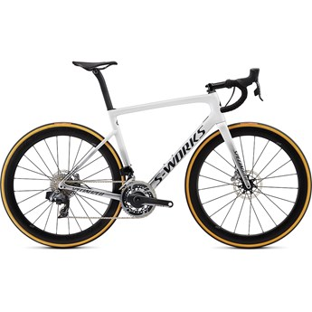 Specialized Tarmac SL6 S-Works Disc Etap Gloss Metallic White Silver/Lite Silver Fade
