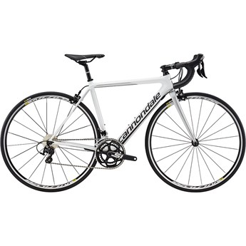 Cannondale SuperSix EVO Carbon Womens 105 Cashmere with Nearly Black and Fine Silver, Satin