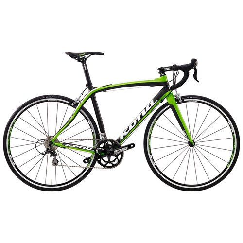 Kona Zing Deluxe Matt Unidirectional Carbon with White, Lime and Black