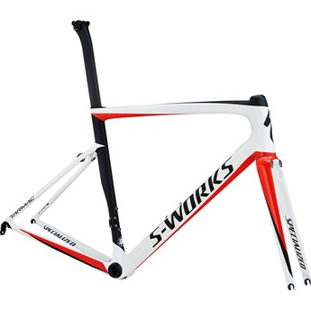 Specialized S-Works Tarmac Men SL6 Frameset Light White/Rocket Red/Satin Black 2018