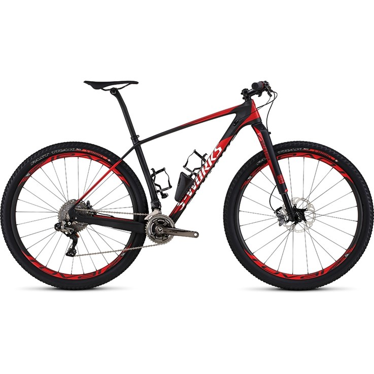 Specialized S-Works Stumpjumper 29 Satin Gloss Carbon/Flo Red/White