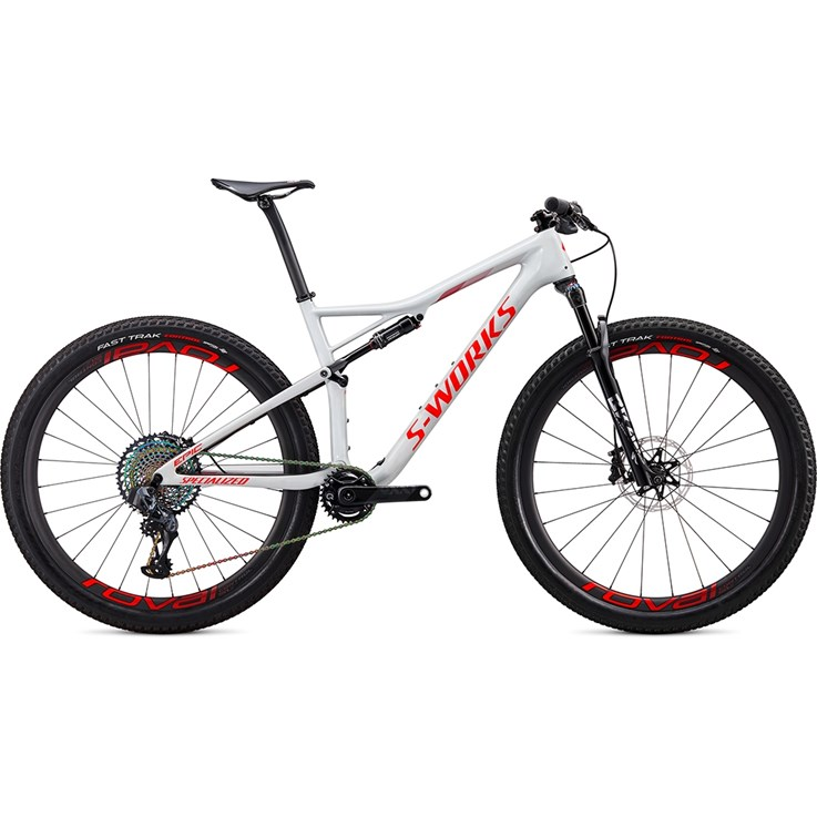 Specialized Epic S-Works Carbon SRAM AXS 29 Gloss Dove Grey/Rocket Red/Crimson