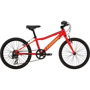 Cannondale Street 20 Kids Race Red with Jet Black and Neon Spring, Gloss