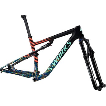 Specialized S-Works Epic Frameset Gloss Carbon/Cobalt Marble/Brassy Yellow Marble/Vivid Coral/Oasis