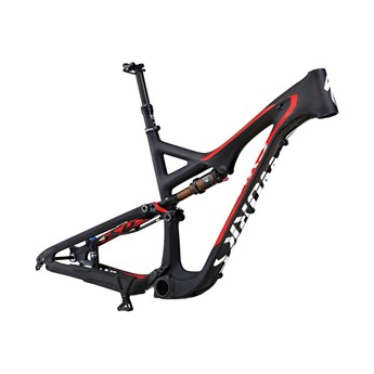 Specialized S-Works Stumpjumper FSR Carbon 29 Bara Ram (Frameset) Materialfärg/Röd/Vit