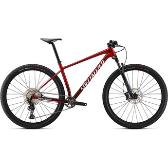 Specialized Chisel Comp Gloss Red Tint Brushed/White