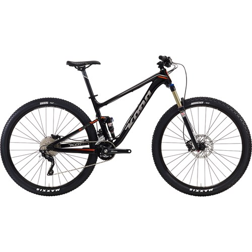 Kona Hei Hei Trail Matt Black with Silver and Orange Decals 2016
