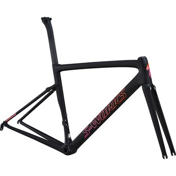 Specialized S-Works Tarmac Womens SL6 Frameset Satin/Gloss/Monoblack/Acid Purple Rocket Red Fade