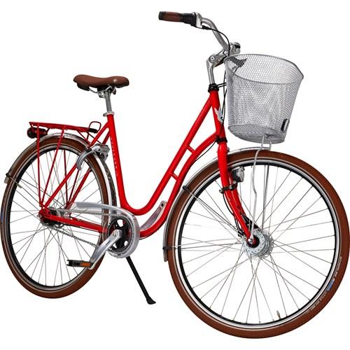 Skeppshult Natur Colour 7 Växlar Damcykel Innerligt Röd 2016