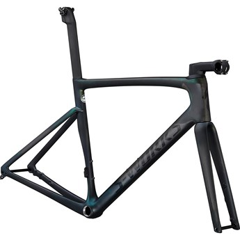 Specialized Tarmac SL7 S-Works Frameset Carbon/Chameleon Silver Green Color Run 2021