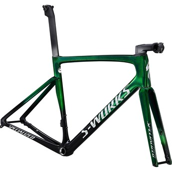 Specialized Tarmac SL7 S-Works Frameset Green Tint Fade Over Spectraflair/Chrome 2021
