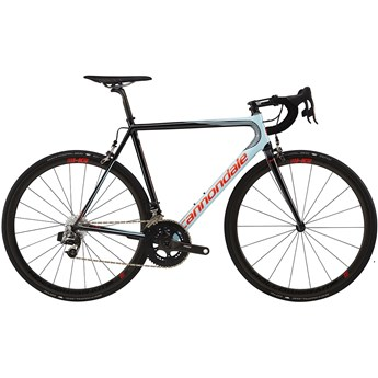 Cannondale SuperSix EVO Hi-Mod Red eTap Atmosphere Blue with Jet Black