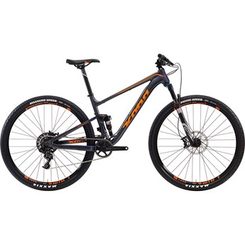 Kona Hei Hei Deluxe Race Matt Charcoal with Team Orange and Purple Decals