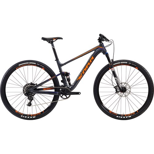 Kona Hei Hei Deluxe Race Matt Charcoal with Team Orange and Purple Decals 2016