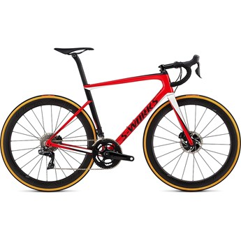 Specialized S-Works Tarmac Men SL6 Disc Di7 Gloss Flo Red/Metalic White Silver/Satin Black