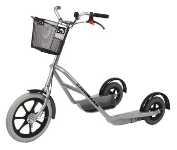 Monark Professional Stor 3-hjulig med luftgummihjul, silver