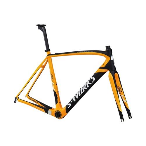Specialized S-Works Tarmac SL4 Bara Ram (Frameset) Orange/Materialfärg/Vit