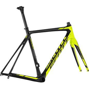Scott Addict RC Di2 Frame set Svart och Gul