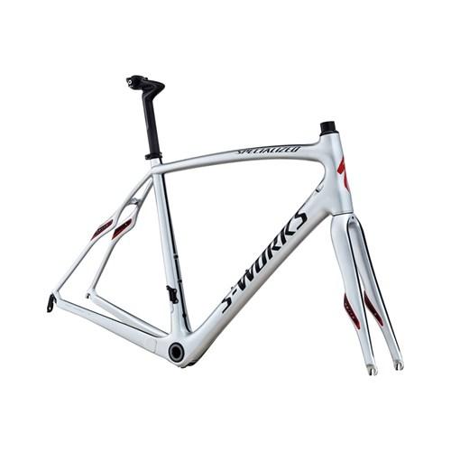 Specialized S-Works Roubaix SL4 Bara Ram (Frameset) Silver/Svart/Röd
