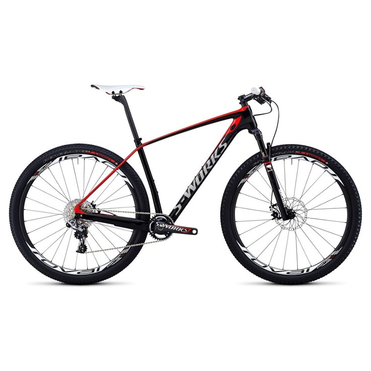 Specialized S-Works Stumpjumper Hardtail Carbon WC 29 Materialfärg/Vit/Röd