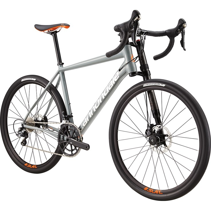 Cannondale Slate Ultegra Stealth Grey with Acid Orange and Brushed Silver, Gloss