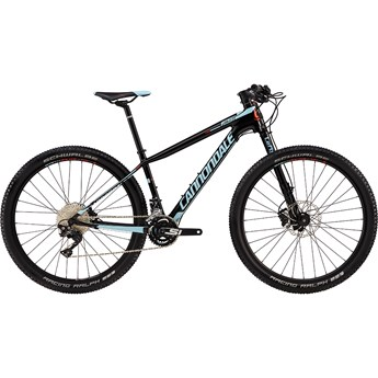 Cannondale F-Si Carbon 2 Womens Jet Black with Acid Red and Atmosphere Blue, Gloss